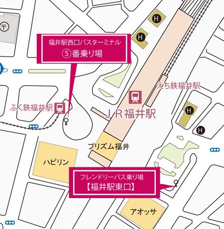 駅前周辺地図